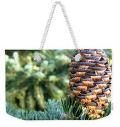 Masterful Construction - Spruce Cone Weekender Tote Bag