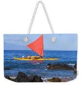 Maui Sailing Canoe Weekender Tote Bag