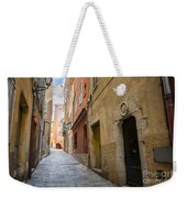 Medieval Street In Villefranche-sur-mer Weekender Tote Bag