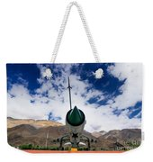 Mig-21 Fighter Plane Of Indian Air Force Used In Kargil War Displayed As Victorious Memory Weekender Tote Bag