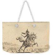 Military Commander On Horseback Weekender Tote Bag