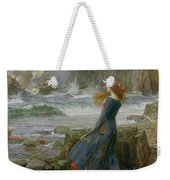 Miranda Weekender Tote Bag by John William Waterhouse