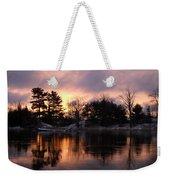 Mississippi River Dawn Light Weekender Tote Bag