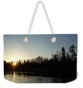 Mississippi River Sunrise Reflection Weekender Tote Bag