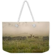 Misty Morning On The Savannah Weekender Tote Bag
