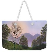 Misty Spring Meadow Weekender Tote Bag