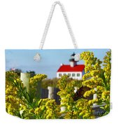 Monarch At East Point Light Weekender Tote Bag