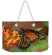 Monarch On Milkweed Weekender Tote Bag