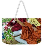 Monks Blessing Buddhist Wedding Ceremony In Cambodia Weekender Tote Bag