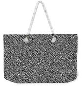 Monochromatic Abstract Weekender Tote Bag