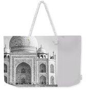 Monochrome Taj Mahal - Square Weekender Tote Bag