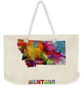 Montana Watercolor Map Weekender Tote Bag