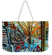 Montreal Hockey Paintings Weekender Tote Bag