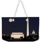 Moon Rising In Washington Dc Weekender Tote Bag