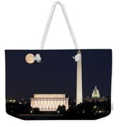 Moon Rising In Washington Dc Weekender Tote Bag