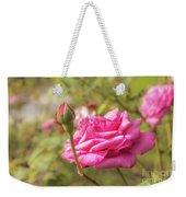Moondrops 85 Hybrid Tea Rose, Pink Rose Originally Produced By  Weekender Tote Bag