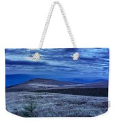 Moonlight On Stone Mountain Slope With Forest Weekender Tote Bag