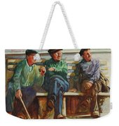 Morning Chat Weekender Tote Bag