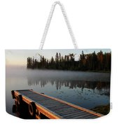Morning Mist Over Lynx Lake In Northern Saskatchewan Weekender Tote Bag