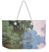 Morning On The Seine Near Giverny 1897 Weekender Tote Bag