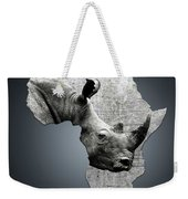 Mother Africa With A Rhino  Weekender Tote Bag