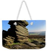 Mother Cap Gritstone Rock Formation, Millstone Edge Weekender Tote Bag