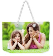 Mother With Daughter Outdoors Weekender Tote Bag