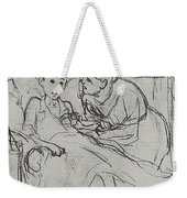 Mother With Sick Child 1878 Fig 29 9h22 6 Tg Vasily Perov Weekender Tote Bag