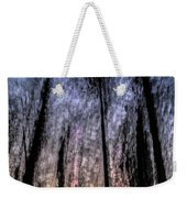 Motion Blurred Trees In A Forest Weekender Tote Bag