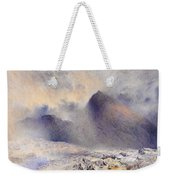 Mount Snowdon Through Clearing Clouds Weekender Tote Bag