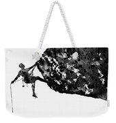 Mountain Climber-black Weekender Tote Bag