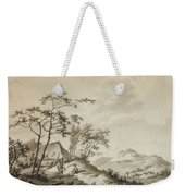 Mountainous Landscape With Three Ramblers Weekender Tote Bag