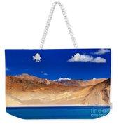 Mountains And Rocks Pangong Tso Lake Leh Ladakh Jammu Kashmir India Weekender Tote Bag