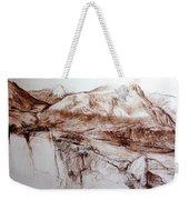 Mountains In Snowdonia Weekender Tote Bag