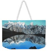 Mountains Landscape Acrylic Painting Weekender Tote Bag