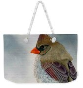 Mrs. Cardinal Weekender Tote Bag by Tracey Goodwin