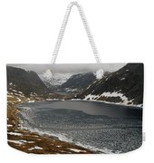 Mt. Dalsnibba And The Serpentine Descent To The Geirangerfjord Weekender Tote Bag