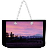 Mt Rainier Frosty Sunrise Weekender Tote Bag