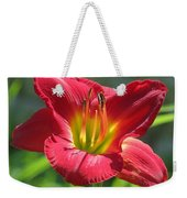 Scarlet Bloom Weekender Tote Bag