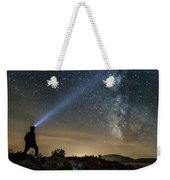 Mushroom Rocks Phenomenon Under The Night Sky Weekender Tote Bag