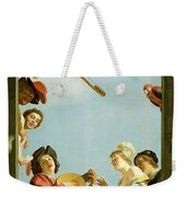 Musical Group On A Balcony Weekender Tote Bag