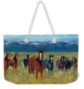 Mustangs In Southern Colorado Weekender Tote Bag