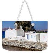 Mykonos Church Weekender Tote Bag
