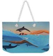 Nadando Contra Corriente Weekender Tote Bag