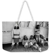 Native American Extras Dressed As Apache Warriors The High Chaparral Set Old Tucson Arizona 1969 Weekender Tote Bag