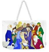 Nativity Scene Weekender Tote Bag