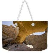 Natural Arch In Wadi Rum Weekender Tote Bag by Michele Burgess