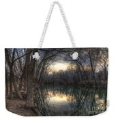 Neath The Willows By The Stream Weekender Tote Bag