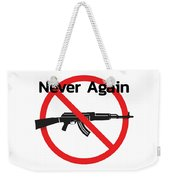 Never Again Ak47  Weekender Tote Bag