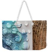 New Uk Five Pound Note Weekender Tote Bag